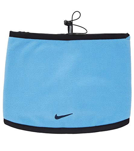 Nike scaldacollo unisex reversibile neck warmer (one size, azzurro/black)