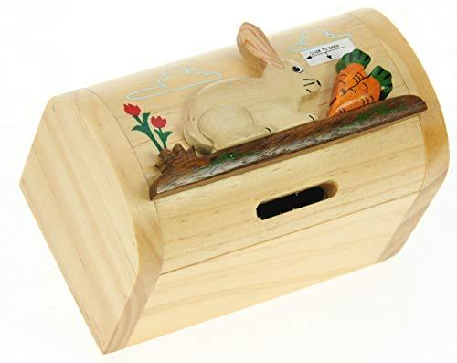 Il Denaro salvadanaio Box per Bambini e Adulti novit/à Regalo di Natale Dimensioni 12 x 9 x 7cm Namesakes Scoiattolo Artigianale in Legno