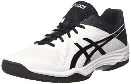 Asics Gel-Tactic, Scarpe da Tennis Uomo, Bianco (White / Black / Silver), 42.5 EU