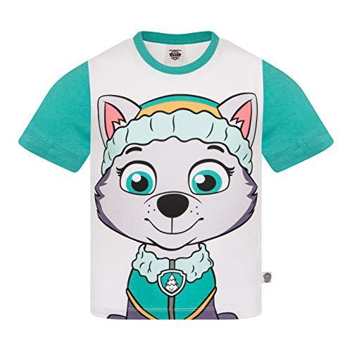 Paw Patrol - Kinder T-Shirt mit Figuren wie Rocky Chase Rubble & Skye - Offizielles Merchandise - Geschenk - Grün, Everest - 5-6Jahre