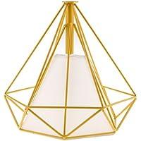 Baoblaze Sombra de Luz de Techo Decoración de Lámpara Hogar Pantalla Complimentos Accesorios - Dentro Amarillo Jaula Blanco