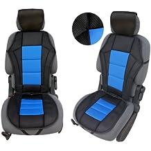 CSC203 - Schienali cuscino del sedile auto, copertura di sede dell'automobile, Seggiolino Auto Protector Coprisedili Blu/Nero