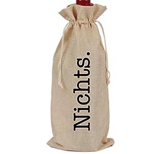 Flaschenbeutel Nichts. Für alle, die sich nichts wünschen.
