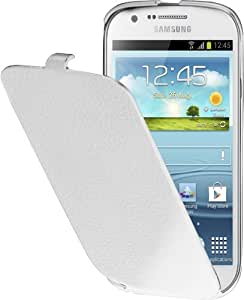Anymode ETUISMI8730W Etui à rabat en faux cuir pour Samsung Galaxy Express Blanc