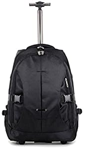"High Quality EasyJet / Ryanair approved Wheeled Laptop Backpack, cabin on board, Fits 15"" Laptop (18"", Black)"