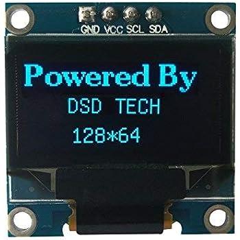 DSD TECH Supporto per schermo LCD OLED da 0,96 POLLICI IIC U8glib per  Arduino AVR