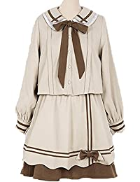 9c1e08f74f3 Packitcute Japanese Style Suits Kawaii Sweet Preppy Style Peter Pan Collar  Long Sleeve Skirt Suit