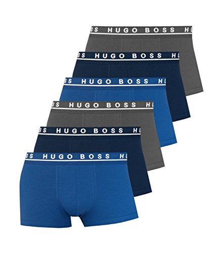 BOSS Hugo Boss Herren Retroshorts Boxer 3P BM 10146061 07, 3er Pack Open Blue (-487)