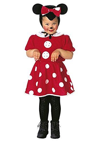 Größe 110-3 - 4 Jahre - Kostüm - Verkleidung - Karneval - Halloween - Maus- Rot - Kleines Mädchen - Minnie Maus