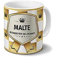 Positive Eigenschaften Tasse mit Namen Malte