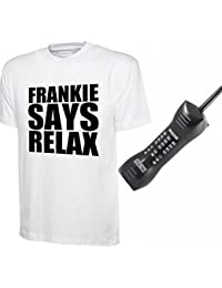 Party Central Mens Ladies Relax T-Shirt 80s Fancy Dress Costume + Giant Mobile Phone
