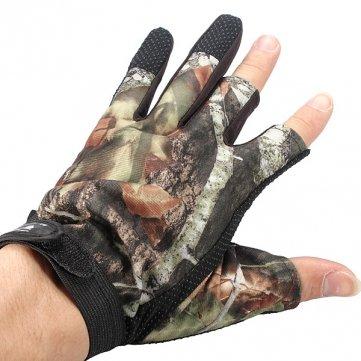 Man Friday 3 Cut Finger preuve Gants Anti-Slip Camouflage Pêche de chasse d'eau