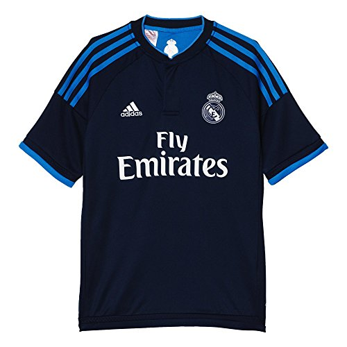 adidas Jungen Fuβballtrikot REAL 3 Jersey Y, Blau, 128, 4055011221582