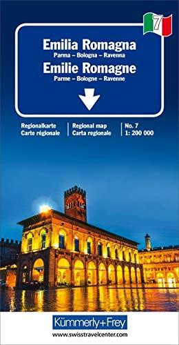 Emilia-Romagna: Parma-Bologna-Ravenna. Regionalkarte Italien Nr. 7. 1:200000 (Kümmerly+Frey Reisekarten)
