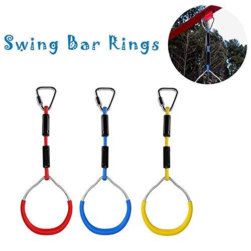 Swing Bar Ringe Durable Swing Trapezstange Gymnastic Rings 260lb Kapazität , Bunte ()