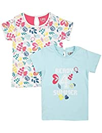 Life Girls Round Neck Printed Top Pack Of 2