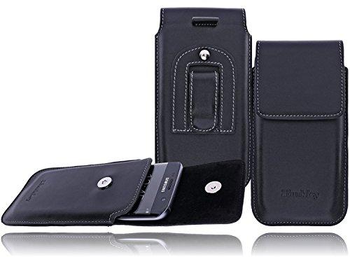 Flap-tasche Slim-jeans (Burkley - Vintage Design - Apple iPhone X Hülle | Leder Handyhülle | Slim Leder Gürteltasche | Handytasche | Schutzhülle |Vertikal-Tasche | Holster | Case | Cover | Hülle mit Gürtel-Schlaufe und Gürtel-Clip (Schwarz / Vertikal))