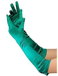 Superbes gants de gala satinés de haute qualité, longueur de coude. Produit offert par NYfashion101 21212BL