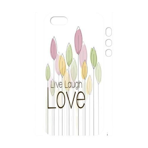 Custom Live Laugh Love Case for Iphone 5,5S with The art of English yxuan_9782144 at xuanz