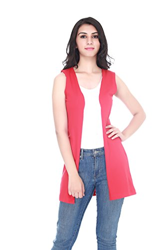 Adyuth Women Cotton Red Outerwea (Small)