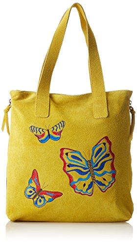 Chicca Borse Damen 8620 Schultertasche, 37x37x6 cm Giallo (Yellow)