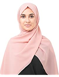InEssence© New Poly Georgette Ladies Wrap, Multiple colour choices, Large Oversized Maxi and Regular Hijab