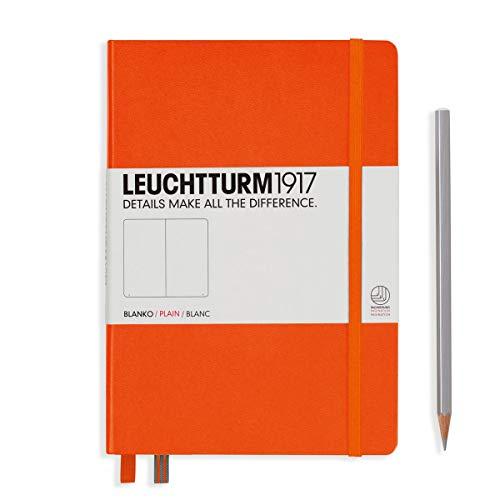 Leuchtturm 1917, taccuino (a5), copertina rigida, 249 pagine pagine bianche vuoto orange