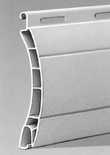 Rolladenpanzer Kunststoff PVC Maxi Profil Aalen 14/55 mm (grau)