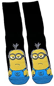Mens Gents Despicable Me Minions Black Kevin Socks UK Size 9-12 / Euro 43-47