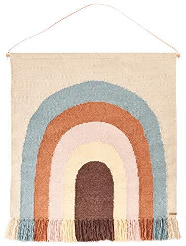 OYOY - Wandteppich - Follow The Rainbow - Regenbogen - B115 x L100 cm - 80% Wolle - 20% Baumwolle -