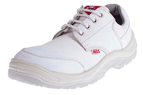 ASS® Herren Sicherheitsschuhe S3 SRC - Echt Leder - Weiß Flach Größe 47 (Ass Schuhe)