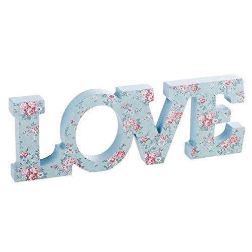 Dcasa - Letras decorativas romanticas love floral .