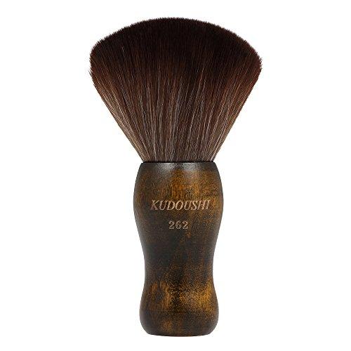 Anself Groß Friseur Nackenpinsel mit Holz Griff, Friseur Nacken Bürste Barbier Haarpinsel