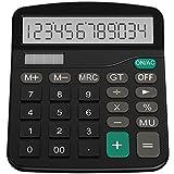 Helect Taschenrechner Standard Tischrechner 12-stelliger Dual-Power (Solar und...