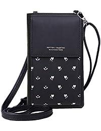MOCA PrettyZys Girls Women Women's Mobile Cell Phone Holder Pocket Wallet Hand Purse Clutch Crossbody Sling Bag with Mobile Cell Phone Wallet for Women Womens Girls