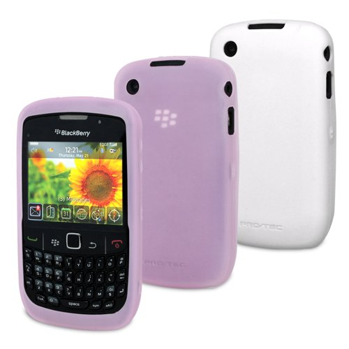 Pro-Tec Flex Case Für Blackberry 8520/9300 in Twin Pack - Rosa/Weiß -