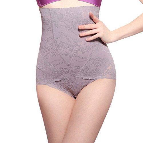 Hollow Donna Triangolo Vita Alta Traspirante Sexy Morbido Addome Sollevare I Fianchi Modellamento Del Corpo Mutandine Purple