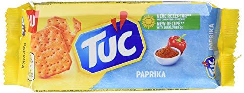 Preisvergleich Produktbild TUC Paprika - Fein gesalzenes Knabbergebäck mit Paprika - 24 x 100g