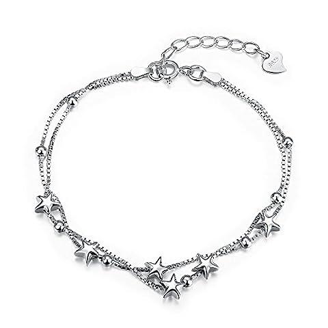 Luminous Des Bracelets En Argent Sterling. ,925,8