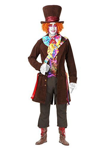 Charades Men's Deluxe Mad Hatter Fancy Dress Costume Large