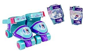 Frozen- Patines Infantiles 4 Ruedas + Protecciones (Darpeje OFRO019)