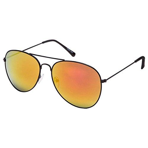 EL-Sunprotect Pilotenbrille Fliegerbrille Sonnenbrille Brille Top Design Schwarz Bunt Verspiegelt