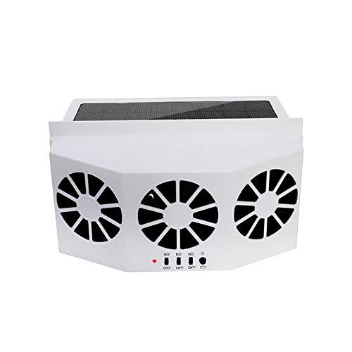 Ventilatore per auto a energia solare, ventilatore portatile a energia solare, per eliminare gli odori fastidiosi all'interno dell'auto e utilizzato per i tipi generici di auto., bianco, Taglia lib