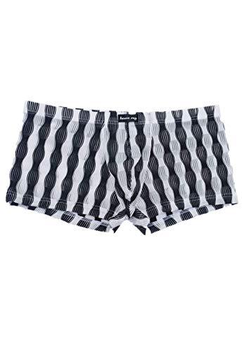Crazboy Herren Unterwäsche Sexy bequem Atmungsaktiv Unterhose Nachtwäsche(X-Large,Schwarz) Swat-team Hose