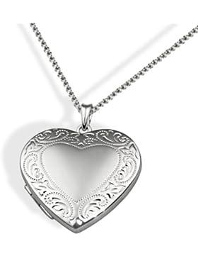 Goldmaid Damen-Halskette Medallion Herz 925 Sterling Silber 45 cm  Herzanhänger