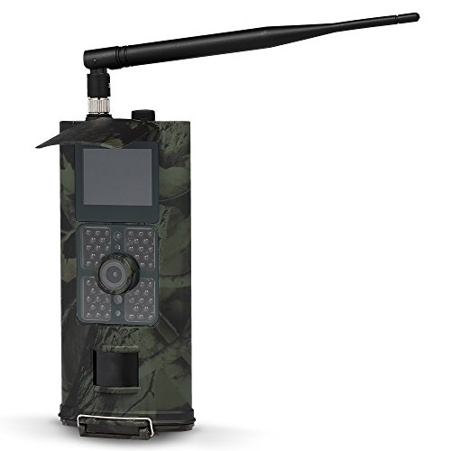 Lixada Caméra Chasse 16MP 1080P 3G/2G SMS GSM Trail Caméra de Jeu en Plein Air Faune Scoutisme Caméra PIR Capteur Infrarouge Vision Nocturne IP54 Étanche
