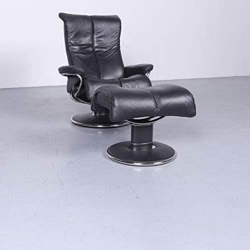 Stressless Wave Designer Leder Sessel Schwarz Echtleder Stuhl Relax #6558