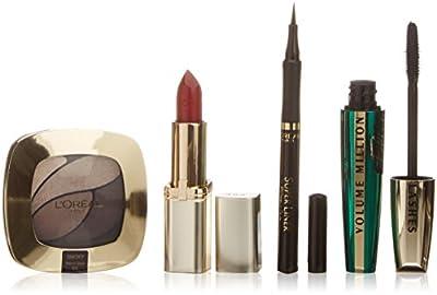 L'Oréal Paris Coffret Maquillage Extravaganza Look Wild Mascara + Rouge à Lèvres + Liner + Fard à Paupières