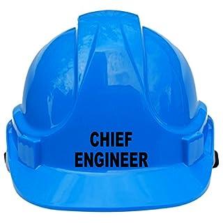 Chief Engineer Kinder, Kinder echtem Hard Hat Sicherheit Helm mit Kinnriemen eine Größe verstellbar geeignet für 4-12Jahre Weiß entspricht EN397Sicherheit Standard, blau