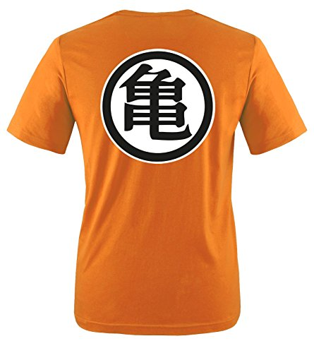 Comedy-Shirts -  T-shirt - Maniche corte  - Uomo T-Shirt | Orange / Weiss-Schwarz Medium